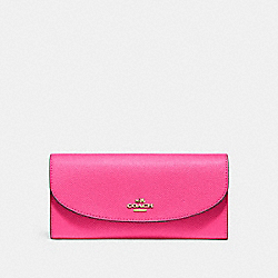 COACH F54009 Slim Envelope Wallet PINK RUBY/GOLD