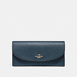 SLIM ENVELOPE WALLET - F54009 - DENIM/LIGHT GOLD