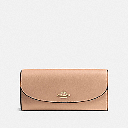 COACH F54009 Slim Envelope Wallet BEECHWOOD/IMITATION GOLD