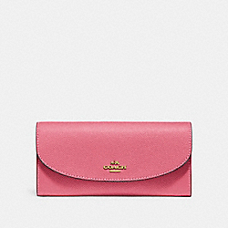 COACH F54009 - SLIM ENVELOPE WALLET STRAWBERRY/IMITATION GOLD