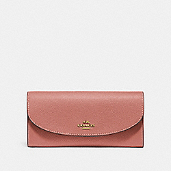SLIM ENVELOPE WALLET - F54009 - MELON/LIGHT GOLD