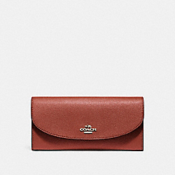 COACH F54009 Slim Envelope Wallet TERRACOTTA 2/LIGHT GOLD