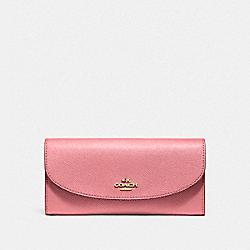 SLIM ENVELOPE WALLET - f54009 - Vintage Pink/Imitation Gold