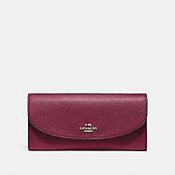 SLIM ENVELOPE WALLET - F54009 - WINE/IMITATION GOLD