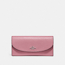 COACH F54009 Slim Envelope Wallet SILVER/DUSTY ROSE