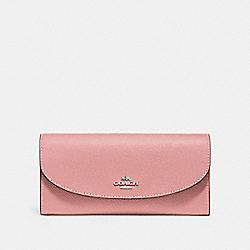 COACH F54009 Slim Envelope Wallet PETAL/SILVER