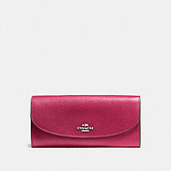 COACH F54009 Slim Envelope Wallet SILVER/HOT PINK