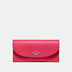 COACH F54009 Slim Envelope Wallet SILVER/MAGENTA