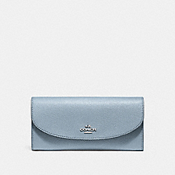 COACH F54009 Slim Envelope Wallet SILVER/DUSK 2