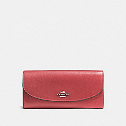 COACH F54009 Slim Envelope Wallet WASHED RED/SILVER