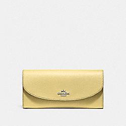 COACH F54009 Slim Envelope Wallet VANILLA/SILVER
