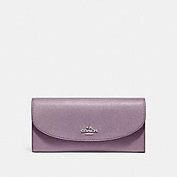 COACH F54009 Slim Envelope Wallet JASMINE/SILVER