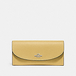 COACH F54009 Slim Envelope Wallet LIGHT YELLOW/SILVER