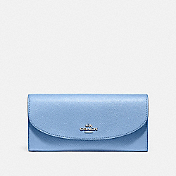 COACH F54009 Slim Envelope Wallet SILVER/POOL