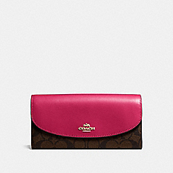 COACH F54022 Slim Envelope Wallet In Signature Canvas IMNM4