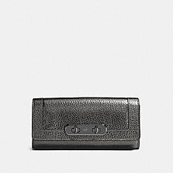COACH F54062 Coach Swagger Slim Envelope Wallet DK/GUNMETAL