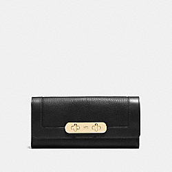 COACH F54062 - COACH SWAGGER SLIM ENVELOPE WALLET LI/BLACK