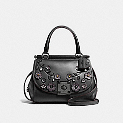 COACH F54079 Drifter Top Handle With Tea Rose DK/BLACK