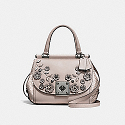 COACH F54079 - DRIFTER TOP HANDLE WITH TEA ROSE DK/GREY BIRCH