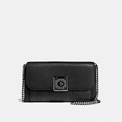 DRIFTER WALLET IN GLOVETANNED LEATHER - f54089 - MATTE BLACK/BLACK