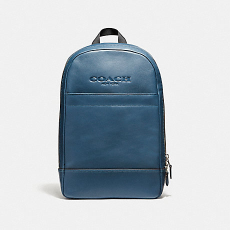 COACH f54135 CHARLES SLIM BACKPACK NICKEL/DARK DENIM