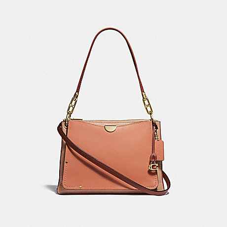 COACH F54163 DREAMER SHOULDER BAG IN COLORBLOCK GD/SUNRISE-MULTI