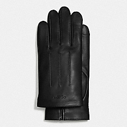 COACH BASIC LEATHER GLOVE - BLACK - F54182