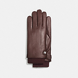 COACH F54183 3-in-1 Leather Glove MAHOGANY