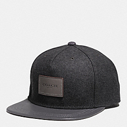 COACH F54192 Wool Flat Brim Hat GRAPHITE