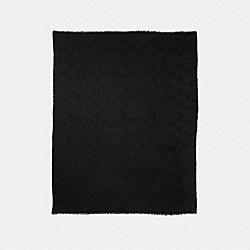 LIGHTWEIGHT SIGNATURE C SHAWL - f54248 - BLACK