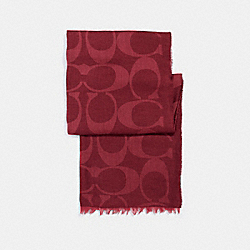COACH LIGHTWEIGHT SIGNATURE SHAWL - CHERRY - F54248