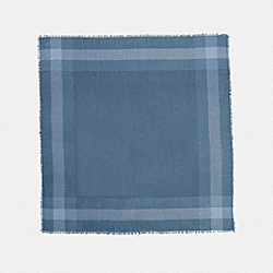 COACH F54253 - WINDOWPANE CHALLIS SCARF DENIM