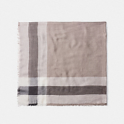 COACH F54253 Outlet Windowpane Challis Scarf STONE