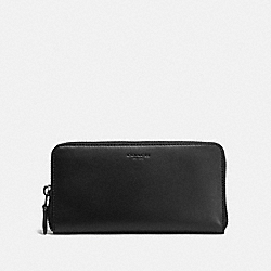 COACH F54300 Accordion Zip Wallet BLACK/DARK GUNMETAL