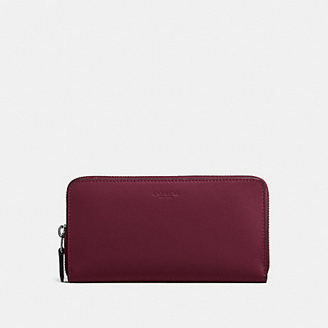 COACH F54300 ACCORDION ZIP WALLET BURGUNDY/LIGHT GOLD
