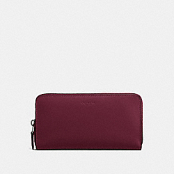 COACH F54300 - ACCORDION ZIP WALLET BURGUNDY/LIGHT GOLD