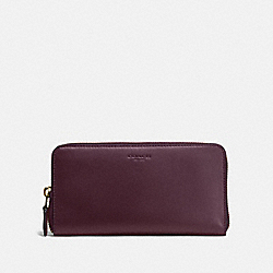 COACH F54300 Accordion Zip Wallet OXBLOOD/LIGHT GOLD