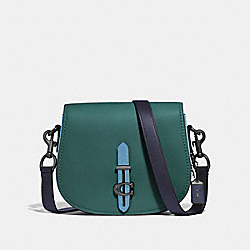 COACH F54392 Saddle In Colorblock V5/DARK TURQ MULTI