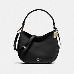 COACH F54446 - COACH NOMAD CROSSBODY IN GLOVETANNED LEATHER LIGHT GOLD/BLACK