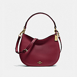 COACH MAE CROSSBODY - BURGUNDY/LIGHT GOLD - F54446