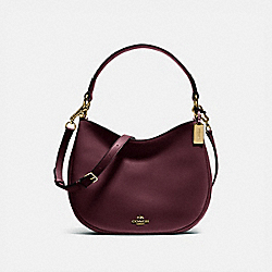 MAE CROSSBODY - f54446 - OXBLOOD/LIGHT GOLD