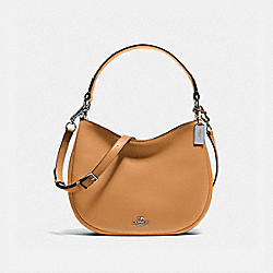 COACH F54446 - MAE CROSSBODY SILVER/LIGHT SADDLE