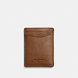 COACH F54466 3-in-1 Card Case DARK SADDLE