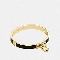 SIGNATURE HINGED BANGLE - f54495 - GOLD/BLACK