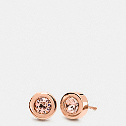 COACH F54504 - STONE STUD EARRINGS ROSEGOLD