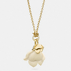 COACH F54506 Long Resin Flower Necklace GOLD