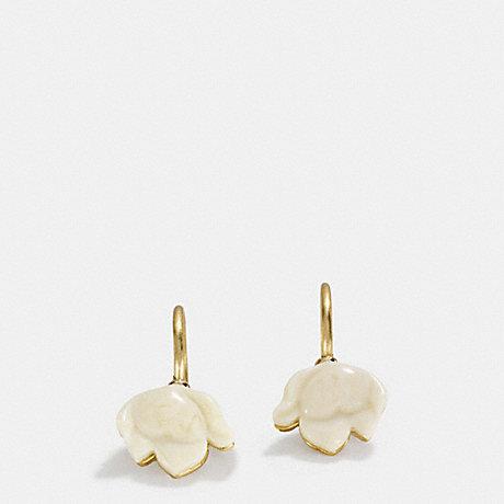 COACH RESIN FLOWER WIRE EARRINGS - GOLD - f54511