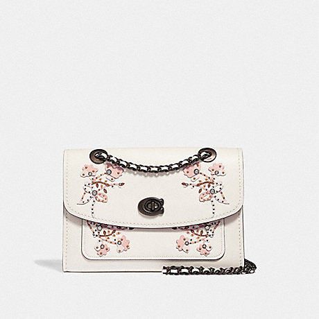 COACH F54620 PARKER WITH FLORAL EMBROIDERY V5/CHALK