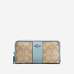 COACH F54630 Accordion Zip Wallet In Signature Canvas SVNKA