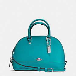 COACH F54661 - MICRO MINI SIERRA SATCHEL IN CROSSGRAIN LEATHER SILVER/TURQUOISE